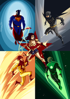 JUSTICE LEAGUE REDESIGN by Frederic-Mur