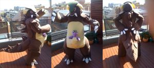 Kangaskhan Cosplay by EmeraldSILVER