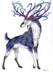 Sapphire Stag by CSIllustrator