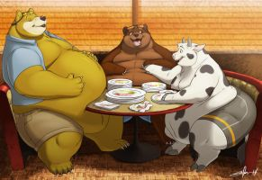 Meeting meal hot spot! by gillpanda