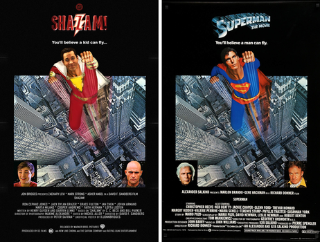Shazam! + Superman: The Movie - Poster Comparison by SuperDude001