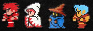 Final Fantasy Party Hama by JiFish