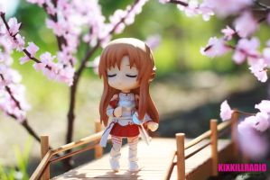 Hanami Days: Asuna is waiting for Kirito by kixkillradio