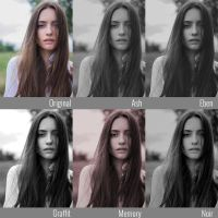 5 Dreamy Black and White Photoshop Actions by pelleron