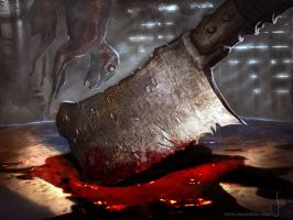 Bloody Cleaver- Magic The Gathering by jason-felix
