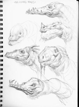 Big Lizard Heads by MikeFaille