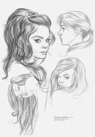 Some Women's faces by angryrooster