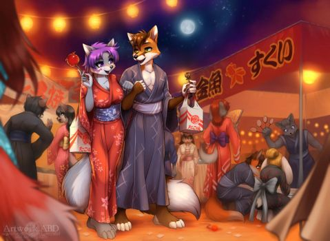 2015 Commission for Werefox by A-BlueDeer