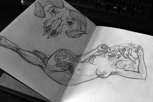 Laying down with a tattoo sketch by DiegoSilvaPires