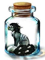 I'm stuck in a fuckin jar by GoldenAssassinWolf
