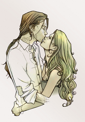 Bill and Fleur - Sweet Kiss by nami64