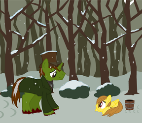 les miserables jean valjean and cosette by Vector-Brony