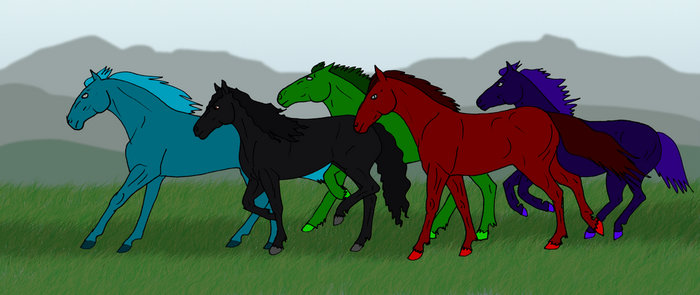 The Horses Run! Giveaway! by Allicorn