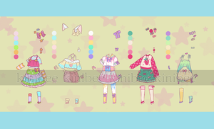 200pt More Fairy Kei Outfit Adopts [closed] by kiniBee