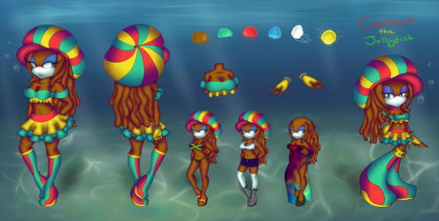 Coconut The Jellyfish Reference 2016 - 2017 by Steampunk-Jellyfish