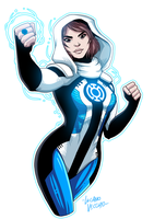 Blue Lantern Lois Lane by LucianoVecchio