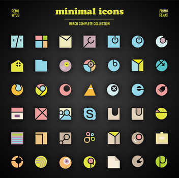 [icon set] Minimal Icon Collection [beach compl.] by Primofenax