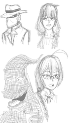 Pencil Sketches 6 by Cassiusthedemon