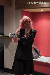 Megurine Luka Secret Police Work in Progress by MeganekkoJessCosplay