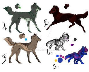 Set 4 : Canines Adopts [1/5] by Funkimina