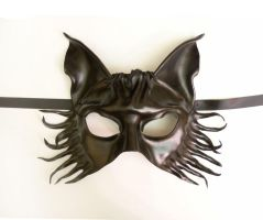 Wolf Fox or Dog Black Leather Mask by Teonova by teonova