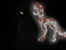 Hollyleaf and Fallen Leaves by Fallen-the-Wolfen