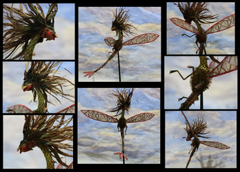 Flygon Plant Sculpture - Different Views by CrimzonLogic