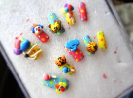 3D Cute Animal Circus Nail Set by jadelushdesigns