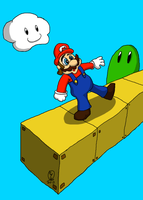 Mario - Don't Fall! by WolfTron