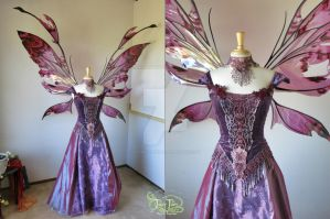 Goblin King's Ball Gown with Giant Kira Wings by FaeryAzarelle
