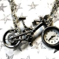 Bicycle Pocketwatch Necklace by Om-Society