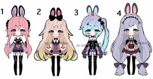 Pastel Kemonomimi adoptable batch CLOSED by AS-Adoptables