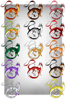 The Last Lot~ dragon Foxes Batch 9~ [OPEN] by Drathemeir