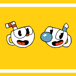 Cuphead and Mugman by Amasseuro