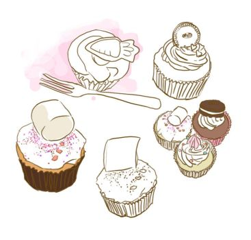 cupcake sketches by zombierice