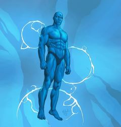 Dr. Manhattan by Webcomicfan