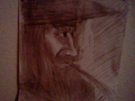 Gandalf the Grey in Deep Thought. by Taqresu650
