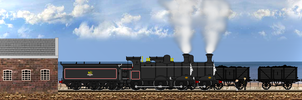 ''The two engines greeted him cheerfully.'' by Nictrain123