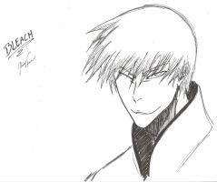 Ichimaru Gin Sketch by n-Cloud
