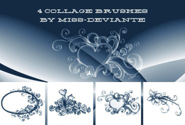 4 collage brushes by Miss-deviantE