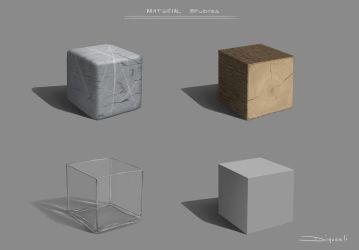 Material Cubes by dimorali