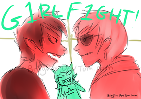 GIRL FIGHT by Brixyfire
