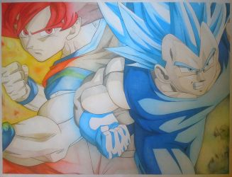 DragonBall A/1 colored pencil drawing FINISHED by turanneth