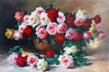 Red and Pink Roses - Arteet by Arteet