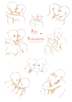 Kiss pose reference by Cessalina