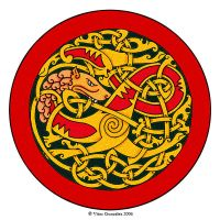 Viking Wolf by twistedstrokes