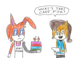 Sally and Bunnie - What's that cake for? by dth1971