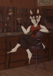 Bottles and Smoke (Comm) by Kate-Venom