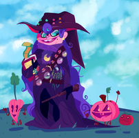 Veggie Witch by DracDraws