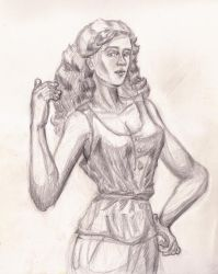 Woman Sketch from Imagination by Sketchee
